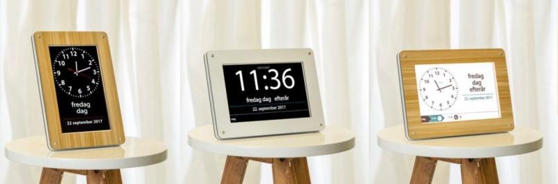 Clockaid Core og Clockaid All Demenskalendere og -ure med indlagte aftaler