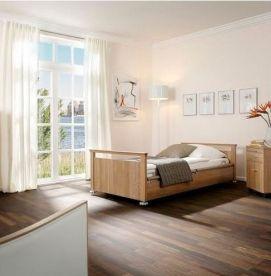 Sentida Demensseng med særlig lav højde og 4-delte sengeheste